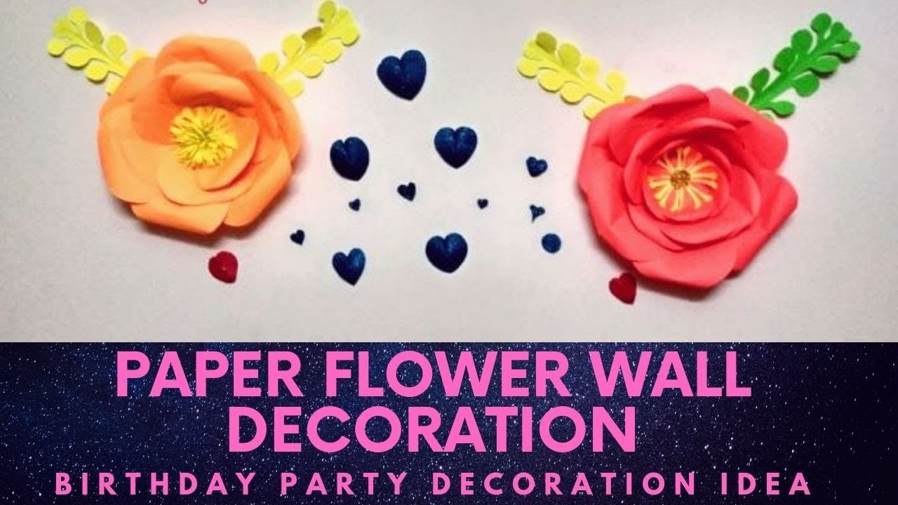 Paper flower wall decoration.birthday party decoration.Home Decoration DIY
