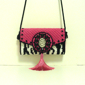 Pink & Zebra Print Clutch