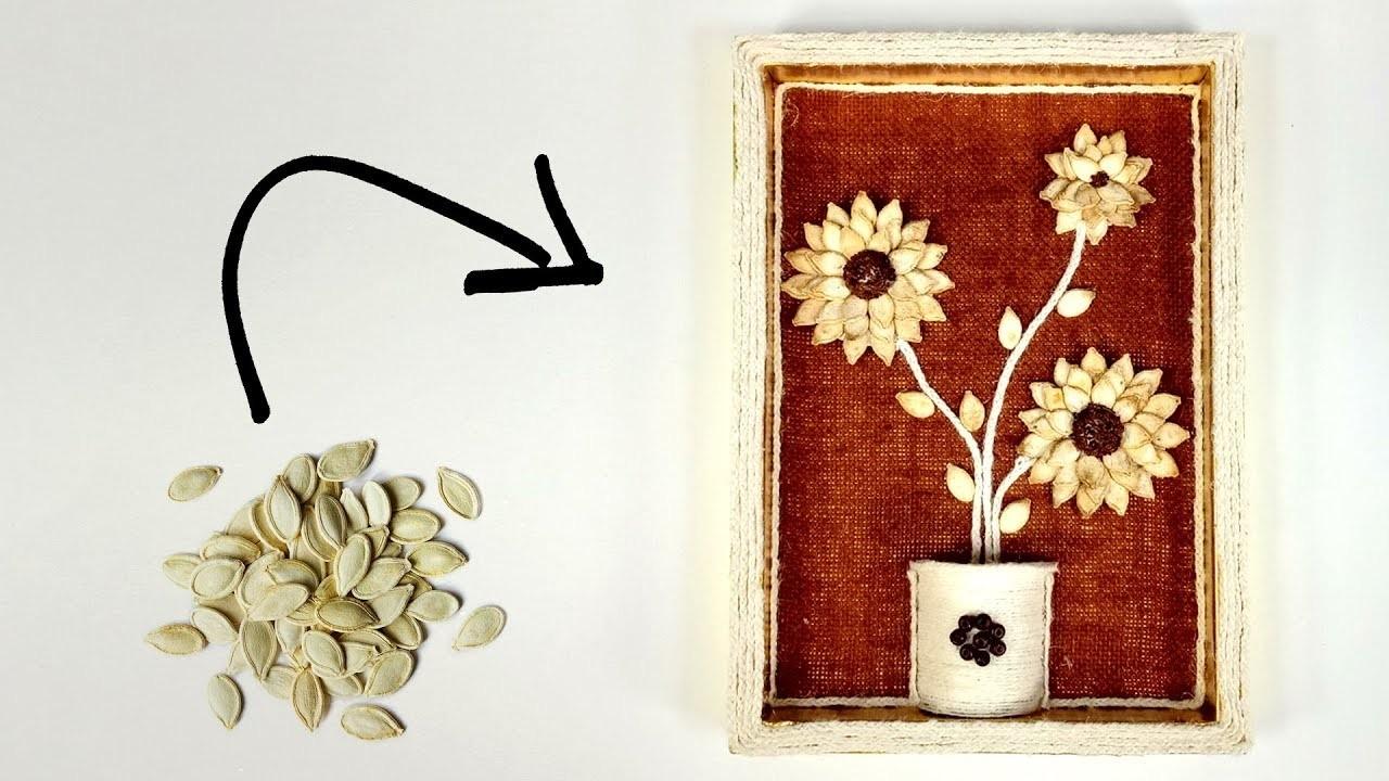 Pumpkin Seeds Craft | DIY Showpiece | Crafts Junction