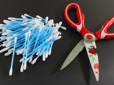 Recycling Of Waste Cotton Buds ! Cotton Buds Craft ! Best Recycling Idea ! Craft Ideas !