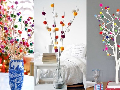 Room decor DIY Idea With Woolen Pom Pom | Best Out Of Waste | Ideas 2019!!!