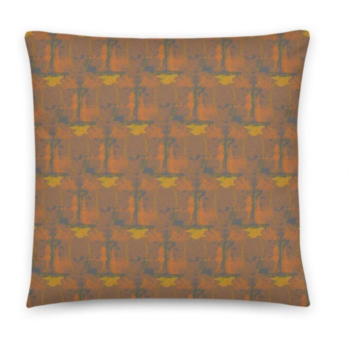 Throw cushion - 18 inch GREY AMBER Cushion cover with Insert. Original Print by Livz Design.
