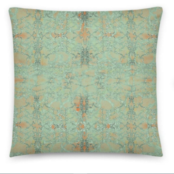 Throw Pillow - 18 inch SAGE OLD LACE - Cushion cover with Insert. Original Print by Livz Design