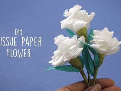 Tissue Flower paper | Paper flowers | Paper craft