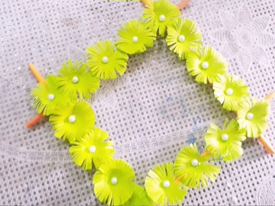 Wall Hanging Craft. How to Make Beautiful Flowers For Wall Hanging.