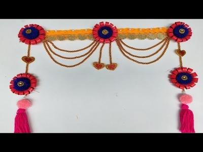Wall Hanging. Waste woolen craft. How To make door hanging making ideas using Woolen and Tea cup.