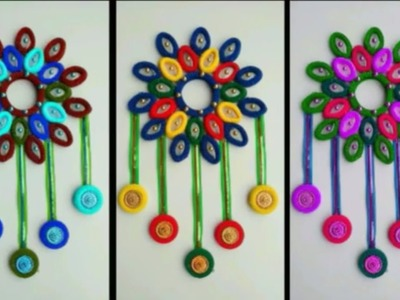 WASTE OUT OF HAIRBAND !! WALL HANGING TORAN CRAFT \ BEAUTIFUL PLASTIC SPOON CRAFT WITH HAIRBAND ||