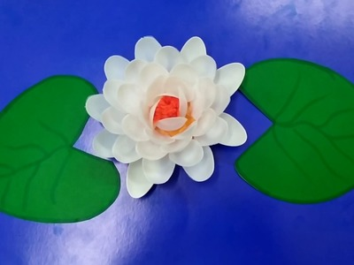 Water lily| DIY Plastic spoon craft idea | best out of waste | DIY arts and crafts reuse idea