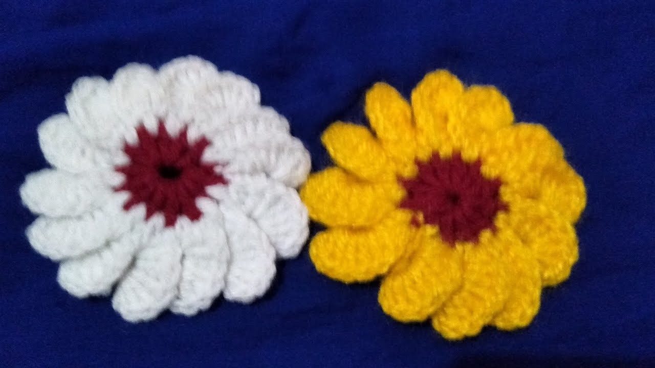 #(75)Hindi How to make woolen Flower. Easily