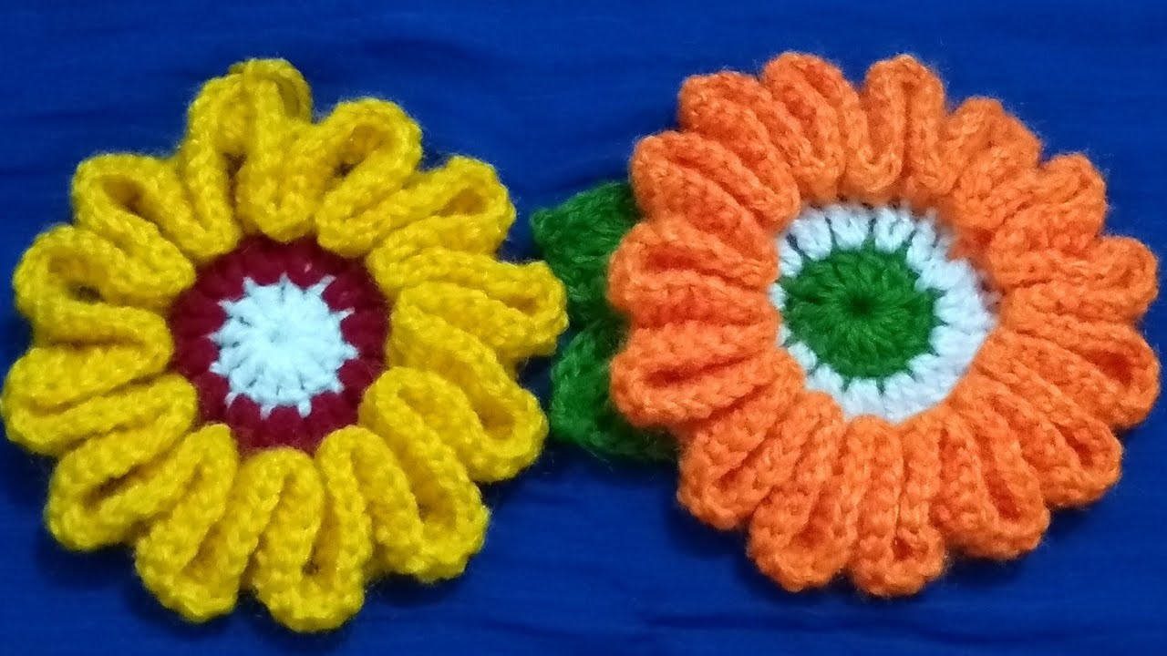 #76(Hindi)how make Beautiful Tri Color Flower Easily