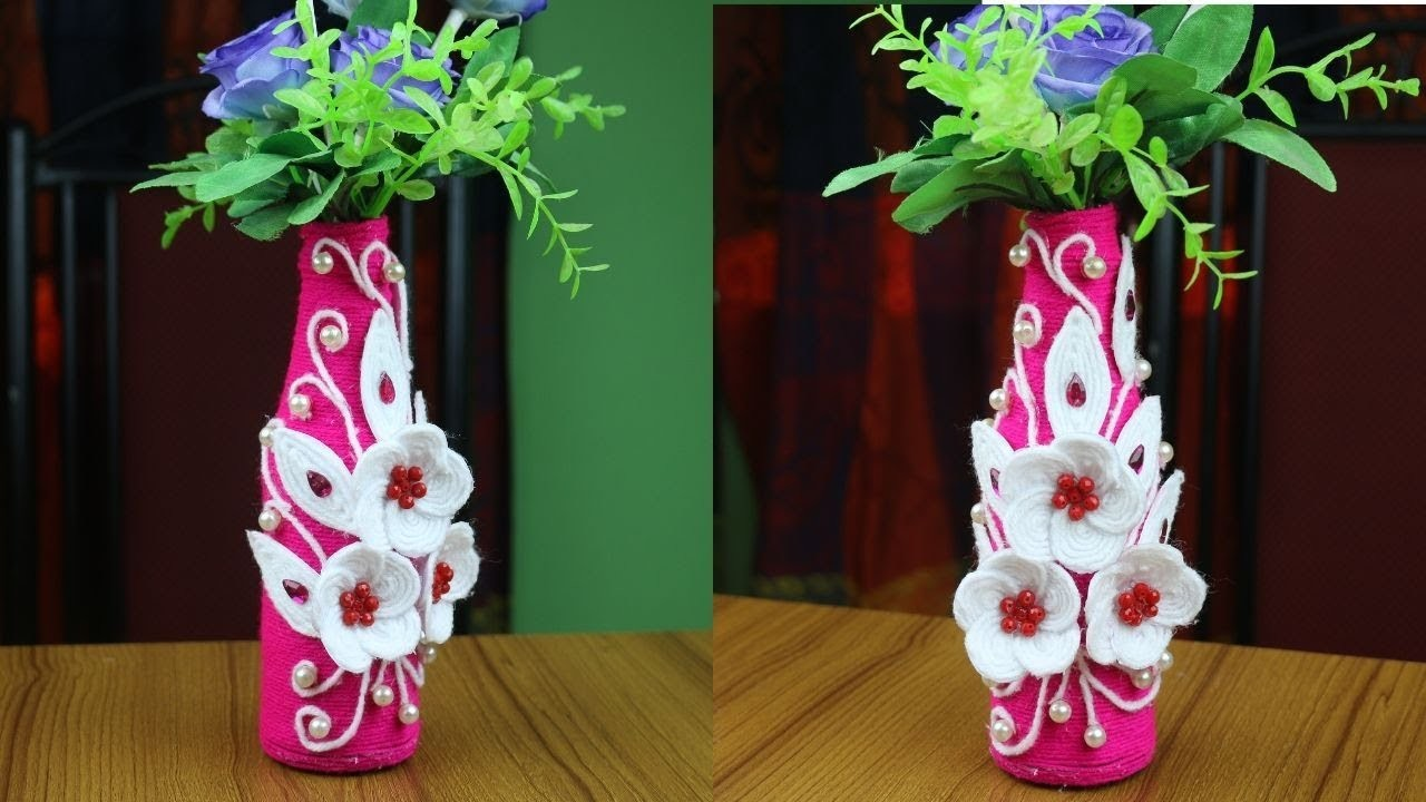 Amazing!! Ideas of Flower Vase - How to Make Flower Vase || Best out of waste - Woolen Craft Ideas