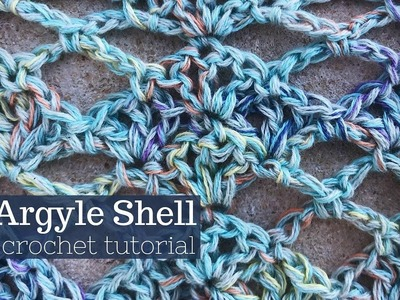 Argyle Shell Crochet Stitch Tutorial