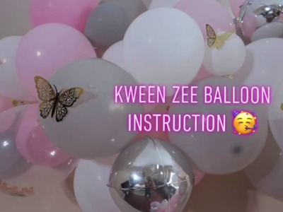 Balloon Garland Tutorial DIY How to instruction backdrop easy