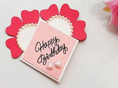Beautiful Handmade Birthday card.DIY Gift idea.