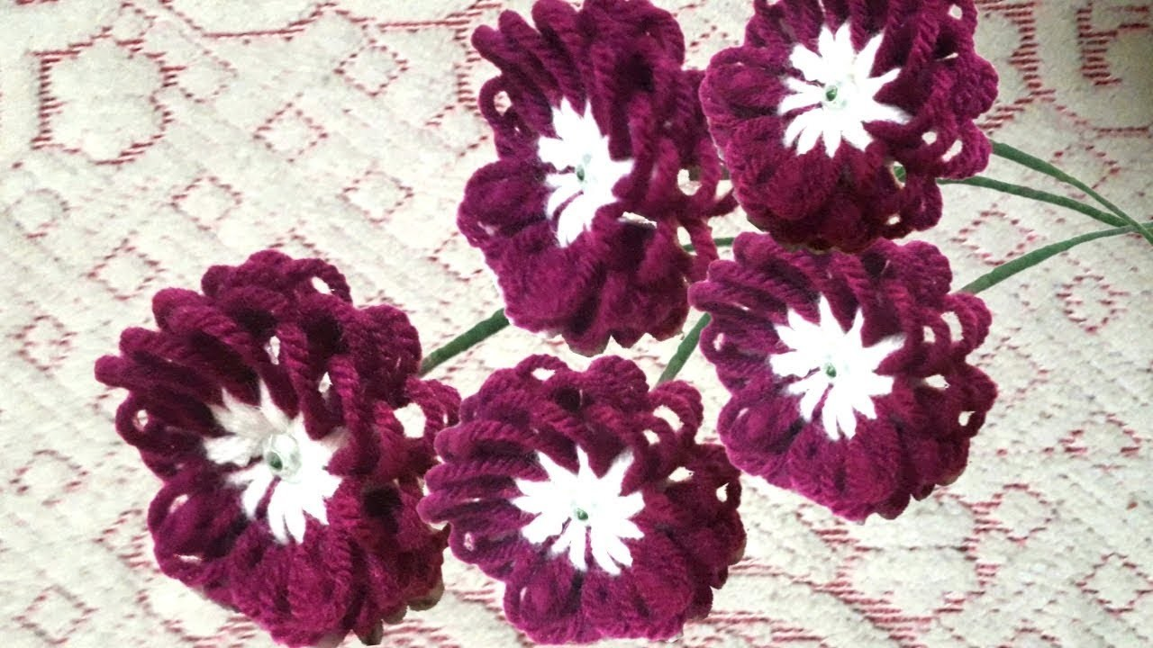 Best out of waste woolen crafts ideas how to make. Easy Flower Making Tutorial. DIY Room Decor