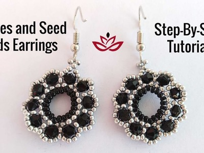 Bicones and Seed Beads Earrings - Tutorial. How to make DIY beaded earrings?