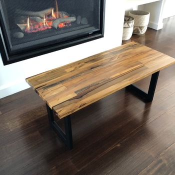 Coffee table solid Tasmanian timber handmade