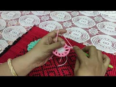 Crochet 3d flower ( কুরুশের ফুল)