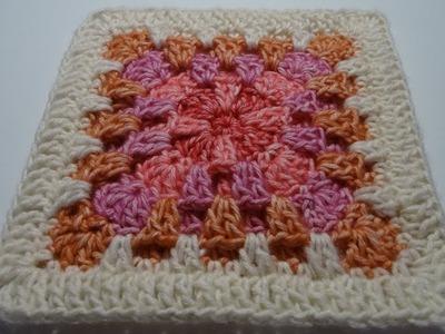 Crochet 3D Granny Square - English