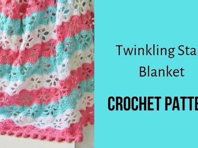 Crochet Blanket Pattern-Twinkling Stars Blanket