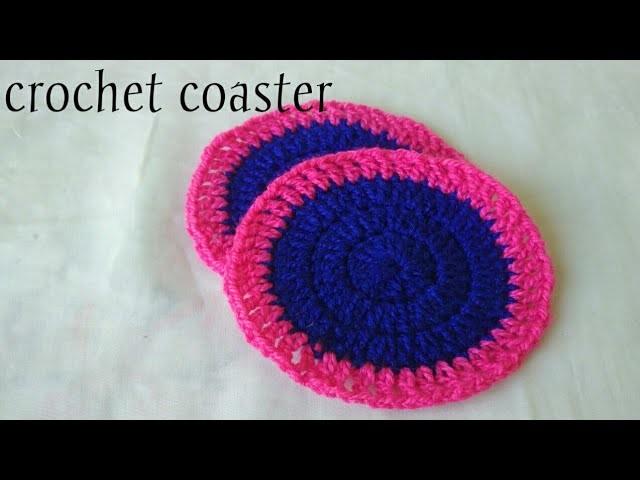 Crochet coaster.Hindi