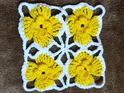 Crochet Flower Lace Tutorial