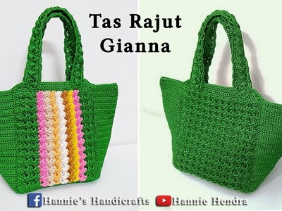 Crochet || Gianna Crochet Bag - Tutorial Tas Rajut [Subtitles Available]
