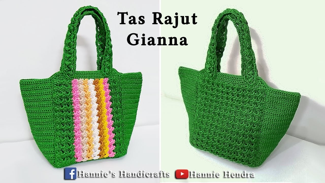 Crochet || Gianna Crochet Bag - Tutorial Tas Rajut [Subtitles Available]