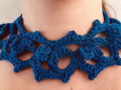 Crochet Large Choker Necklace