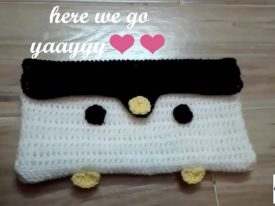Crochet penguin purse #howto #crochet penguin purse #forbegginers #handmade #pakistaniart