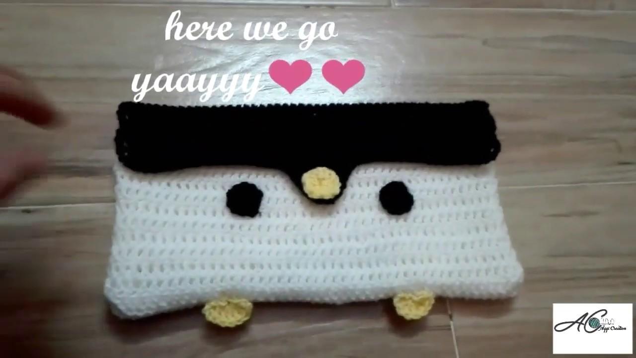 Crochet penguin purse #howto #crochet penguin purse #forbegginers #handmade #pakistaniart