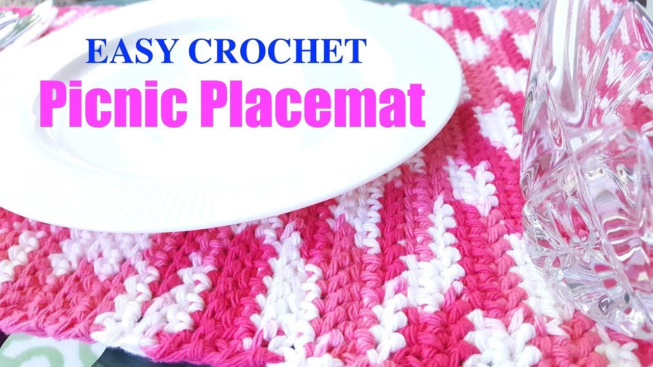 Crochet Picnic Placemat - The Stitch Sessions #43