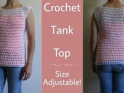 Crochet Summer Tank Top Tutorial | Crochet Top Tutorial