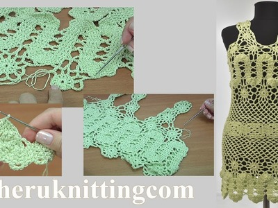 Crochet Tunic Dress Tutorial 301 Part 1 of 2 Bruges Lace