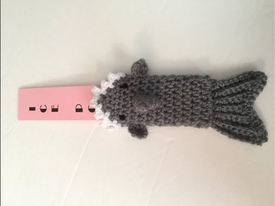 Crochet Tutorial Shark Otter Pop  Cozy - Step by step Directions
