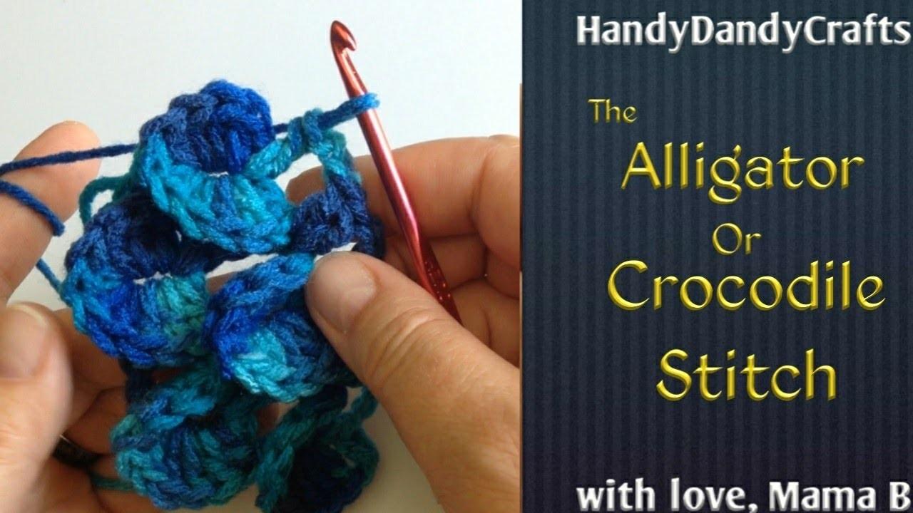 Crocodile or Alligator Stitch - Crochet