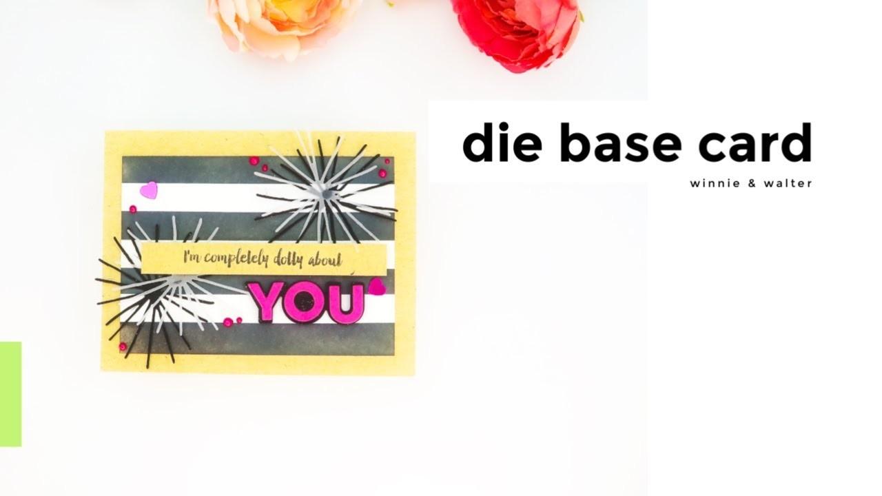 Die Base Card with DIY Background