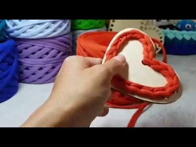 DIY Crochet Heart basket