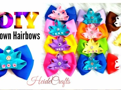 DIY Crown Hairbows || Hairbows Ideas || Easy Tutorial || How to Make