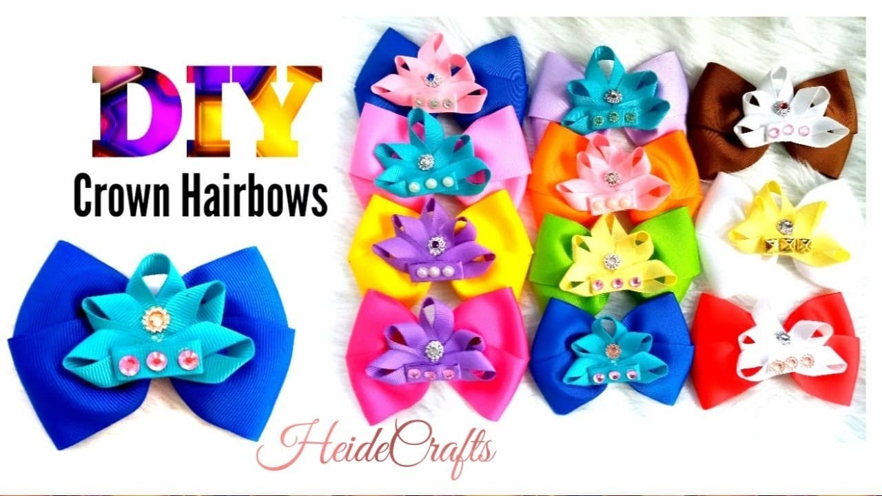 DIY Crown Hairbows    Hairbows Ideas    Easy Tutorial    How to Make