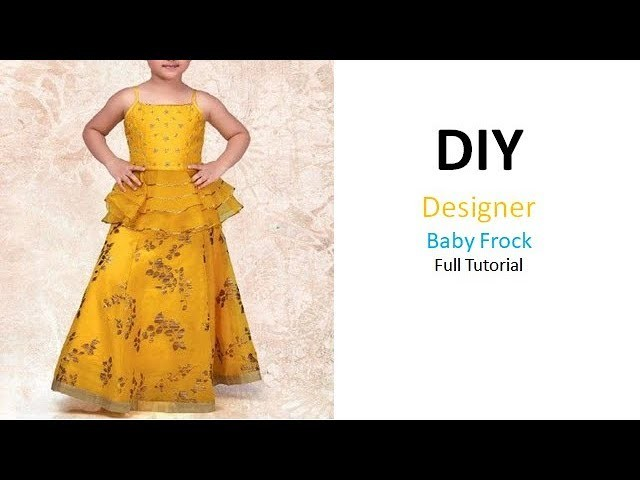 Diy Designer Frill Baby Frock For 7 to 8 Year Cutting & Stitching Full Tutorial
