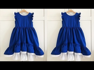 DIY Designer High Low Cute Baby Frock Full Tutorial