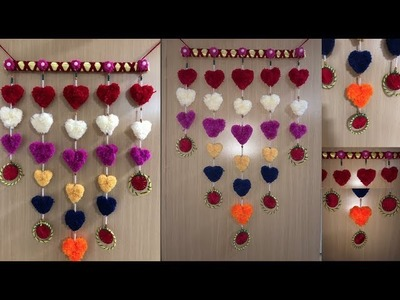 DIY Easy Wall Hanging made of Wool and Bangles| DIY | Home Decoration | Woollen Wall Hanging
