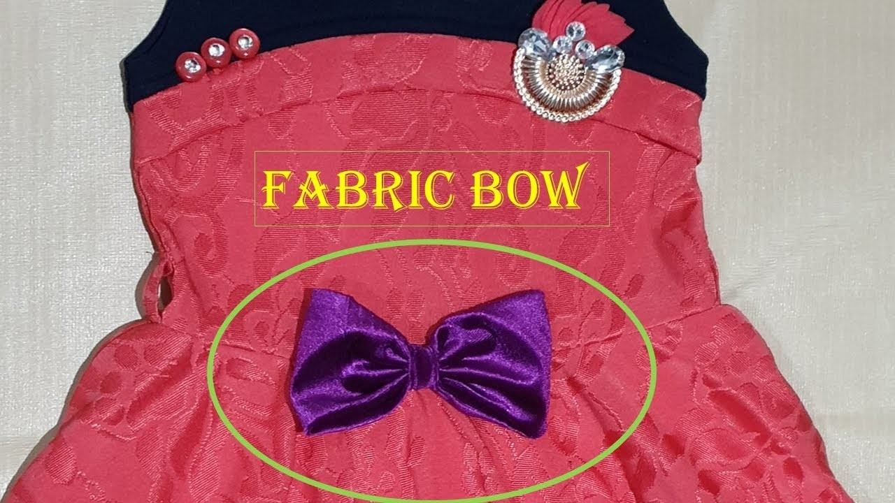 DIY Fabric Bow. How to make a Fabric Bow