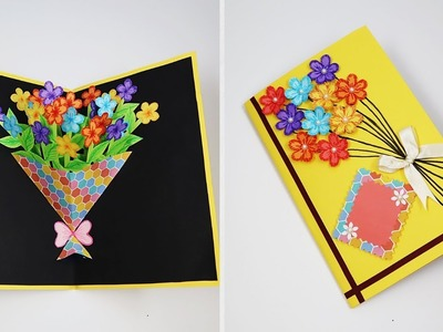 DIY Friendship Day Card | How To Make Special Card For Best Friend | Flower Bouquet Card