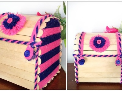 DIY Jewellery Box From Wool And Popsicle