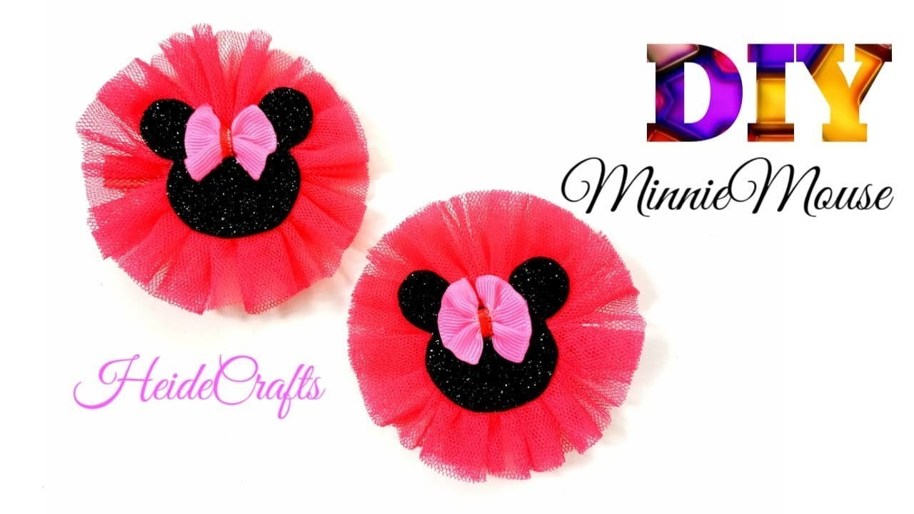DIY Minniemouse Hairbow || Tulle Hairbow || Easy Tutorial || How to Make