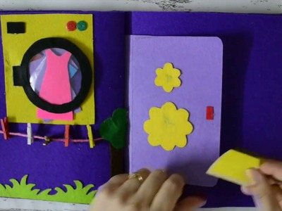 DIY No Sew Felt Busy Book for Kids - Complete Tutorial