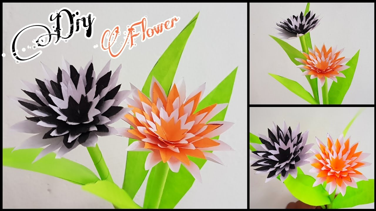 Diy paper flower | Best room decor from paper flower |  crafts from wastes | #1