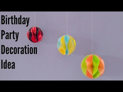 DIY Paper Honeycomb balls || Easy Paper Crafts Idea || How To Make Paper Honeycomb Ball.